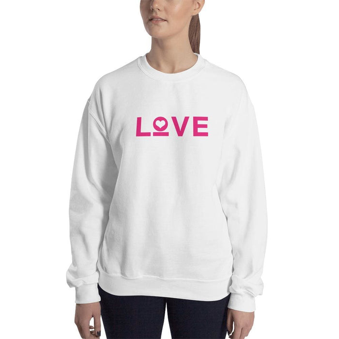 Womens Love Heart Crewneck Sweatshirt - 5XL / White - Sweatshirts