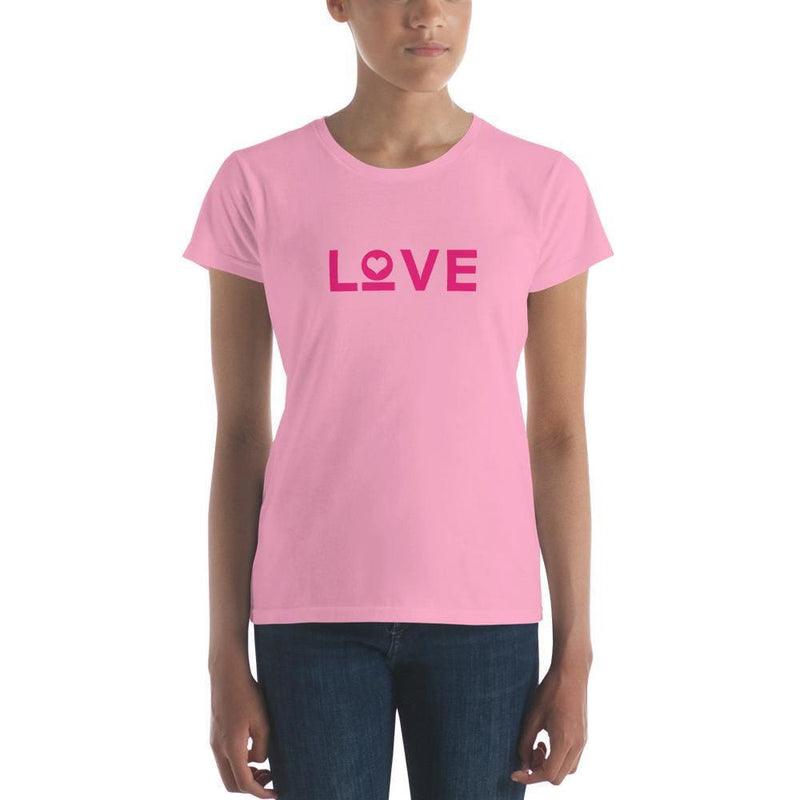 Womens Love T-Shirt - S / CharityPink - T-Shirts