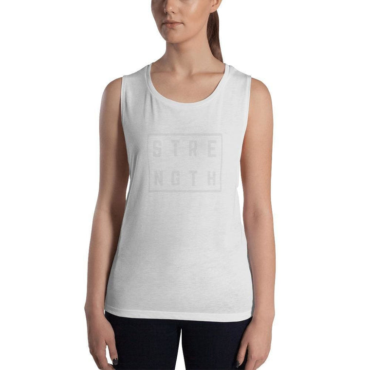 Women's Strength Muscle Tank Top (Low Cut Arm Holes)