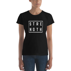 Womens Strength Square T-Shirt - S / Black - T-Shirts