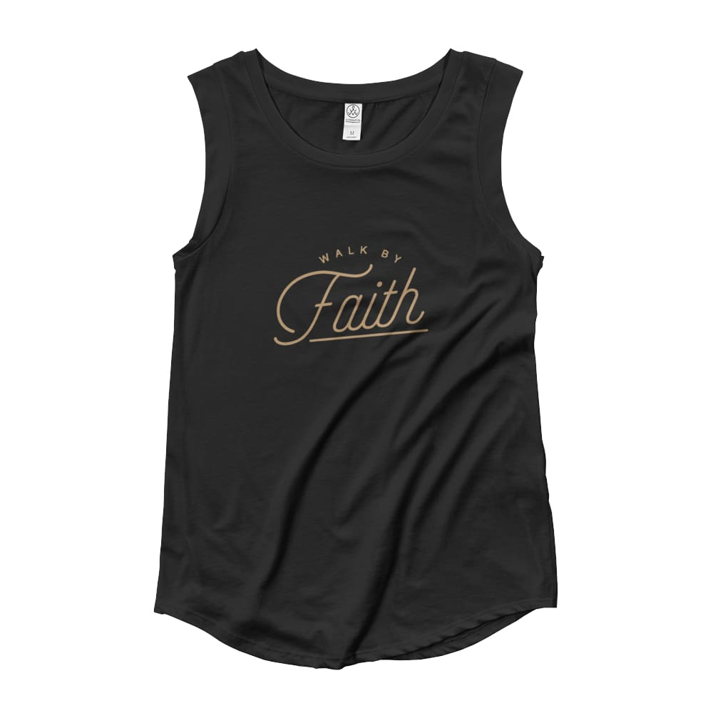 Load image into Gallery viewer, Womens Walk by Faith Muscle Tank Top - S / Black - Tank Tops