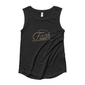 Womens Walk by Faith Muscle Tank Top - S / Black - Tank Tops
