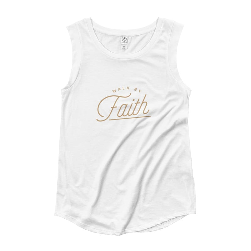 Womens Walk by Faith Muscle Tank Top - S / White - Tank Tops