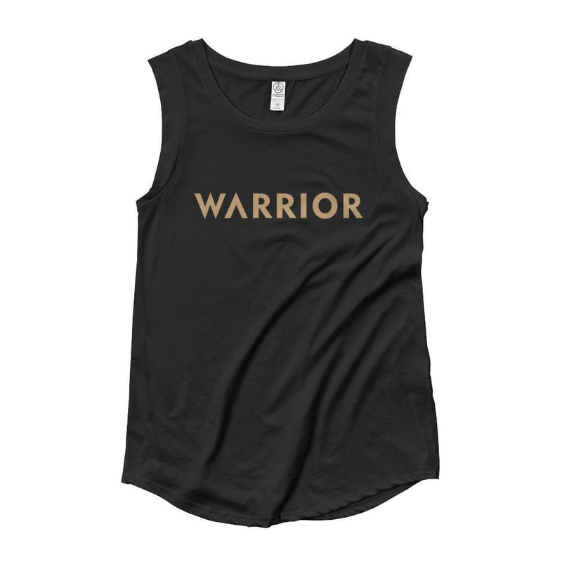 Womens Warrior Muscle Tank Top - S / Black - Tank Tops