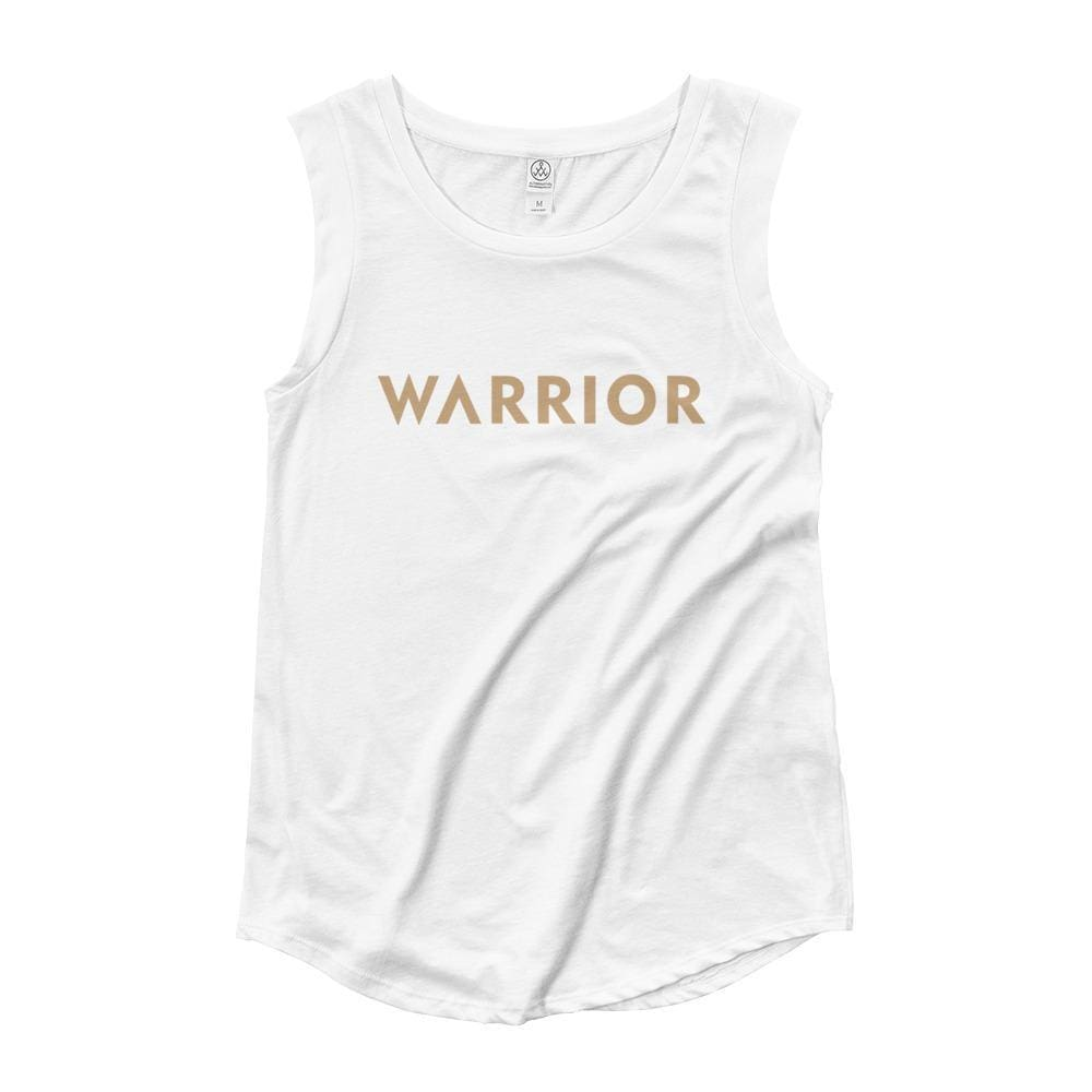 Womens Warrior Muscle Tank Top - S / White - Tank Tops