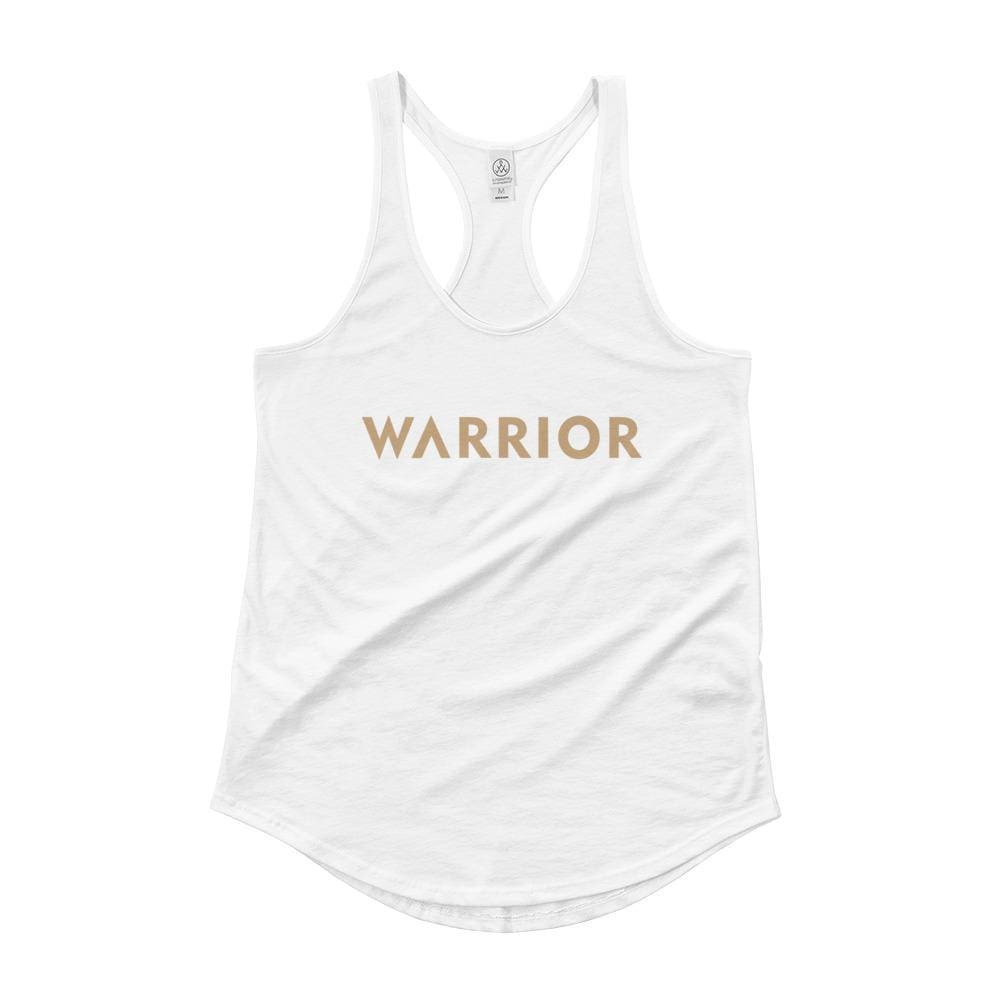 Womens Warrior Racerback Tank Top - S / White - Tank Tops
