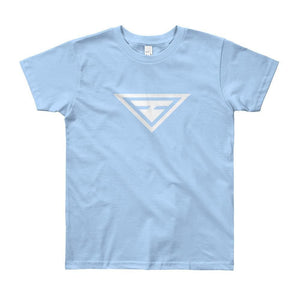 Load image into Gallery viewer, Youth Hero Short Sleeve T-Shirt - 8yrs / Baby Blue - T-Shirts