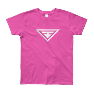 Load image into Gallery viewer, Youth Hero Short Sleeve T-Shirt - 8yrs / Fuchsia - T-Shirts