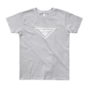 Load image into Gallery viewer, Youth Hero Short Sleeve T-Shirt - 8yrs / Heather Grey - T-Shirts