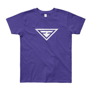 Load image into Gallery viewer, Youth Hero Short Sleeve T-Shirt - 8yrs / Purple - T-Shirts