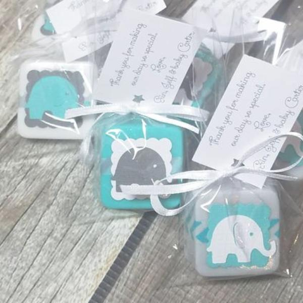 Elephant Baby Shower Soap Favors For Boys Lalalipsie
