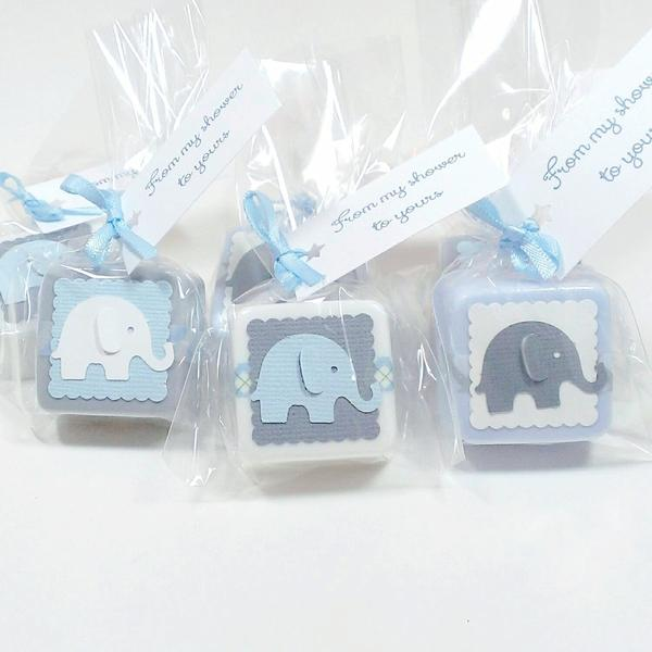 10 x HEART Soaps PERSONALISED Adorable Baby Shower Scented in Baby Powder