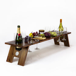 Folding Wine Table - Super Luxe Hardwood