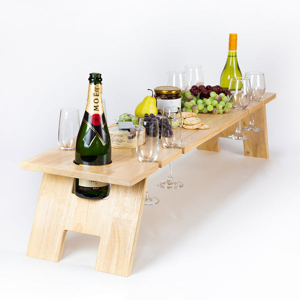 Folding Wine Table - Super Luxe LIGHT Hardwood