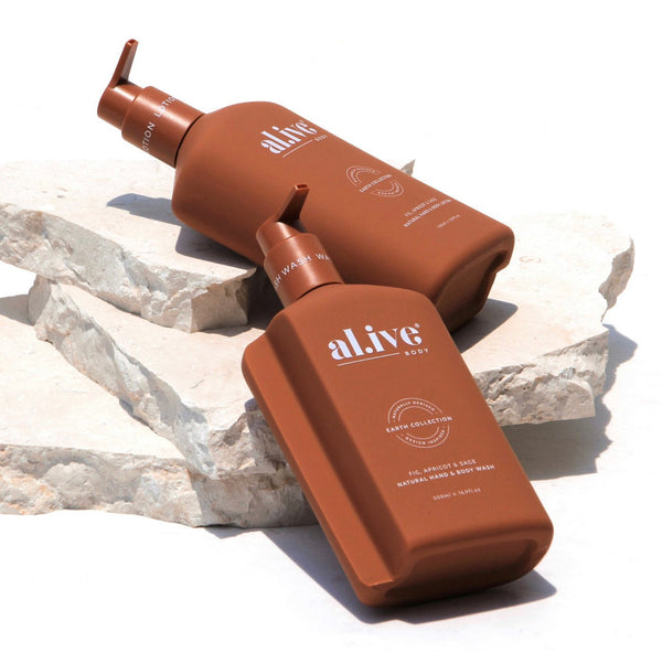 al.ive WASH & LOTION DUO + TRAY - FIG, APRICOT & SAGE