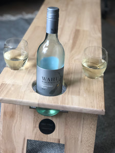Super Luxe LIGHT Hardwood Folding Wine Table