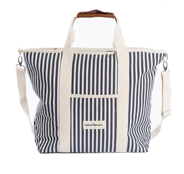 Business and Pleasure Premium Tote Cooler Bag-Lauren's Navy Stripe