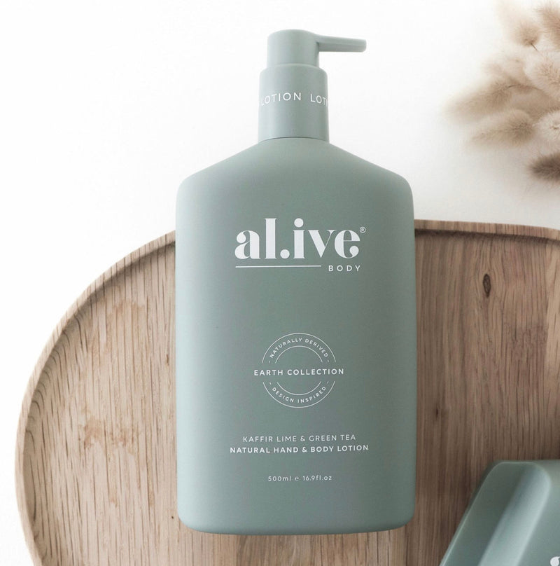 al.ive HAND & BODY LOTION -KAFFIR LIME & GREEN TEA