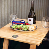 Folding Wine Table- 2 Glass Pine Honeymoon