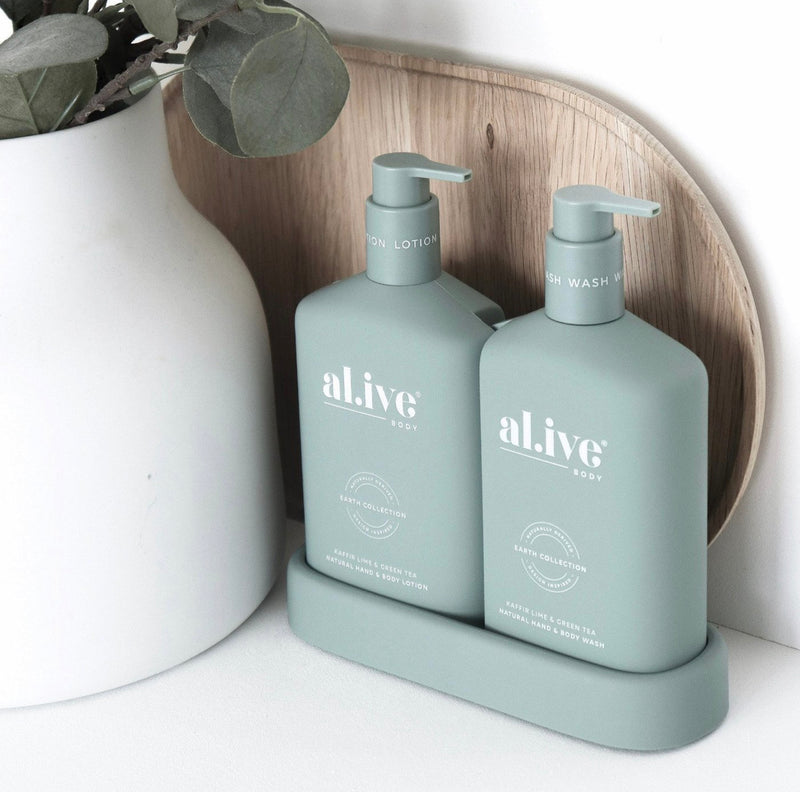 al.ive WASH & LOTION DUO + TRAY - KAFFIR LIME & GREEN TEA