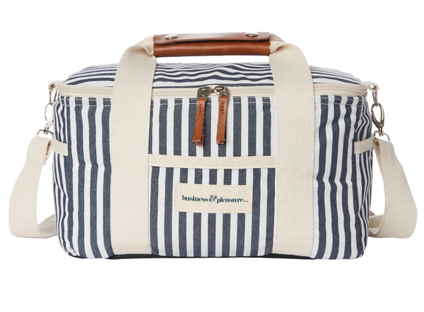 Business and Pleasure Premium Cooler Bag-Lauren's Navy Stripe