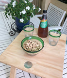 Folding Stemless Wine Glass Table - Pine