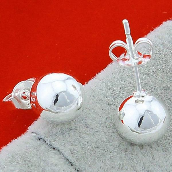 Simple Ball .925 Sterling Silver Earrings