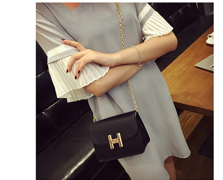 Retro Korean Style Chain Crossbody Handbag