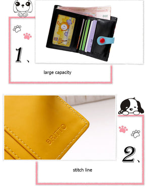 Lovely Cartoon Character  Painting Lady Purse Multi Color Wallet