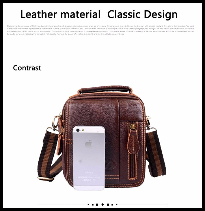 Vintage Men's Messenger Bag -Genuine Leather -