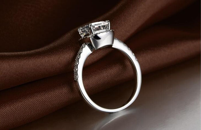 Princess Cut Sterling Silver .925 Ring