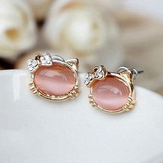 The Chic Cat Stud Earrings