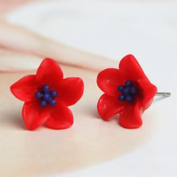 Flower Stud Minimalist Earrings