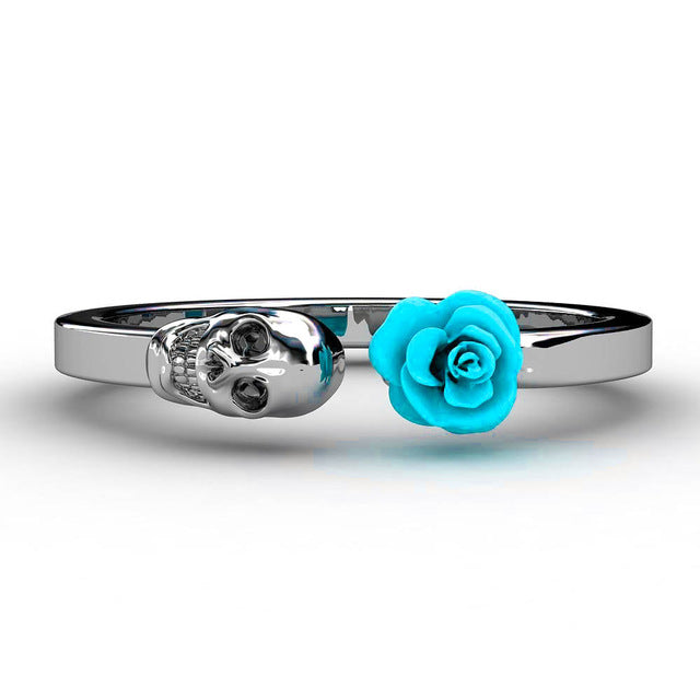 Skull & Rose Stainless Steel Ring