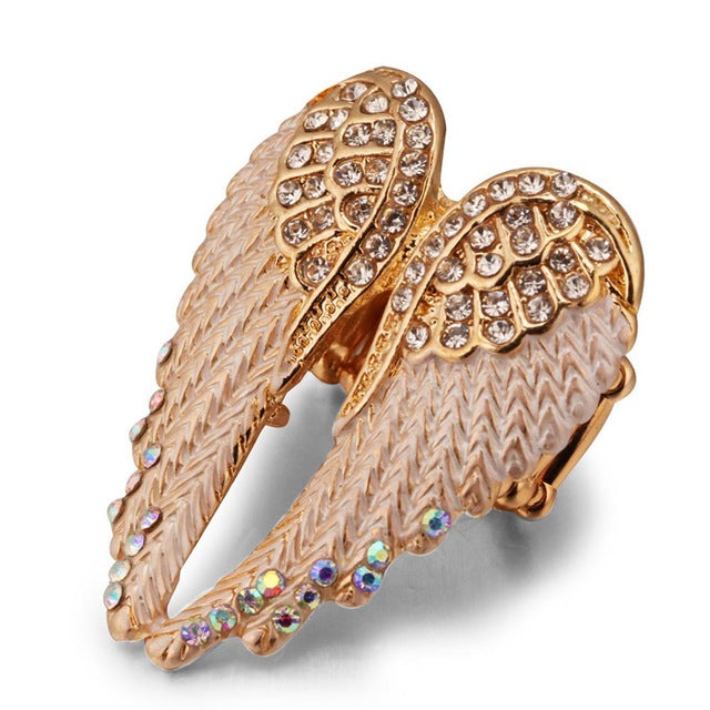 Angel Wings Gold & Silver Ring