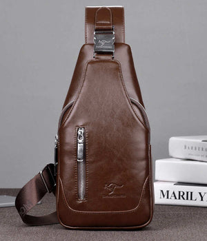 Men's Canvas Chest Backpack  Bag