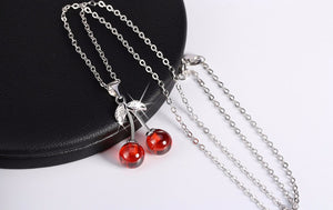 The Cherry Love Necklace .925 Sterling Silver