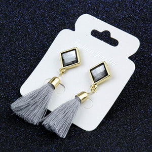 Vintage Star Thread Tassel Earrings