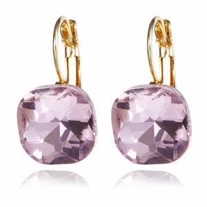 Shiny Square Crystal Design Earrings