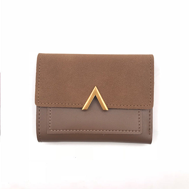 V Designer Short Matte Purse Wallet