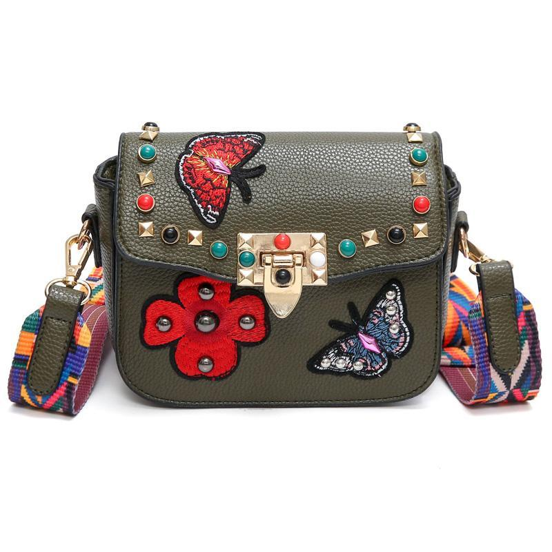 Butterfly Embroidery Fashion Mini Bag