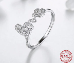 Cressida Love Ring .925 Sterling Silver