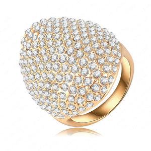 Austrian Crystal Gold Plated Ring