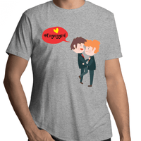 Gay T-Shirt | #Engayged Male - RainbowRoo