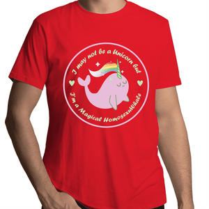 #Homosexuwhale Whale T-Shirt Unisex - RainbowRoo