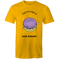 Non-Binary T-Shirt | The Future is Non-Binary Cake Unisex - RainbowRoo