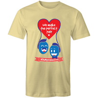 #BeMyValentine We Make a Perfect Pair T-Shirt Male - RainbowRoo