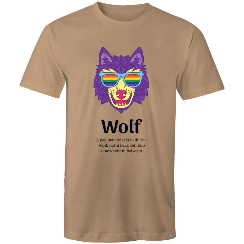 Dicktionary Wolf T-Shirt Male - RainbowRoo