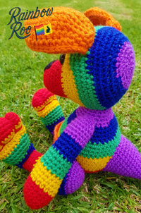 Rainbow Kangaroo Crochet | Joey the Rainbow Roo - RainbowRoo