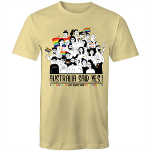 LGBT T-Shirt | Australia Said Yes Commemorative Unisex - RainbowRoo